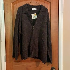 Long Sleeved Zip Up Sweater